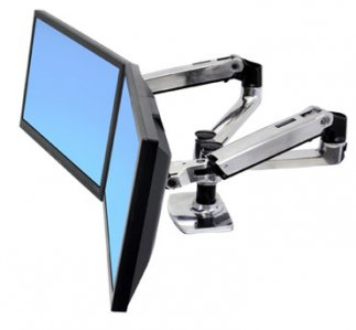 Monitor arm for 2 screens