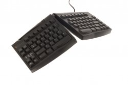 Ergonomical keyboard with adjustable height and width