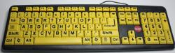 Keyboard yellow